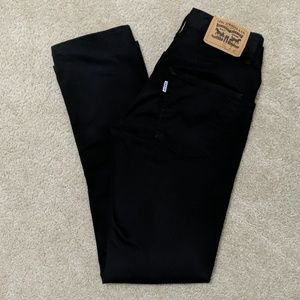 LEVI'S 511 SLIM BLACK JEANS 12 REGULAR 26X26